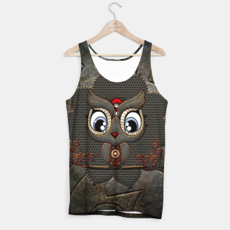 Thumbnail image of Cute steampunk owl Tank Top, Live Heroes