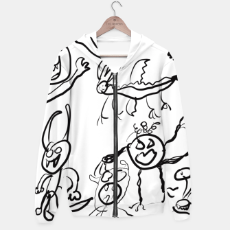 Thumbnail image of Monsters by Lars  Cotton zip up hoodie, Live Heroes