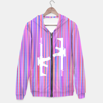Thumbnail image of Guns Are Gay Cotton zip up hoodie, Live Heroes