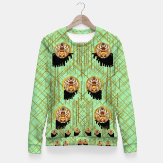 Miniatur Lady panda with hat and bat in the sunshine Woman cotton sweater, Live Heroes