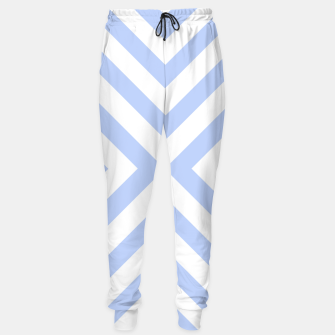 Miniaturka Abstract geometric pattern - blue and white. Cotton sweatpants, Live Heroes