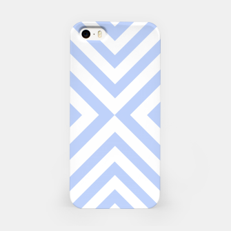 Miniaturka Abstract geometric pattern - blue and white. iPhone Case, Live Heroes