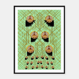 Miniatur Lady panda with hat and bat in the sunshine Framed poster, Live Heroes