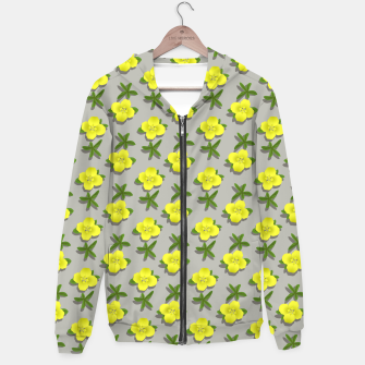 Thumbnail image of Yellow Flowers Cotton zip up hoodie, Live Heroes