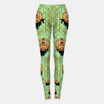 Miniatur Lady panda with hat and bat in the sunshine Leggings, Live Heroes