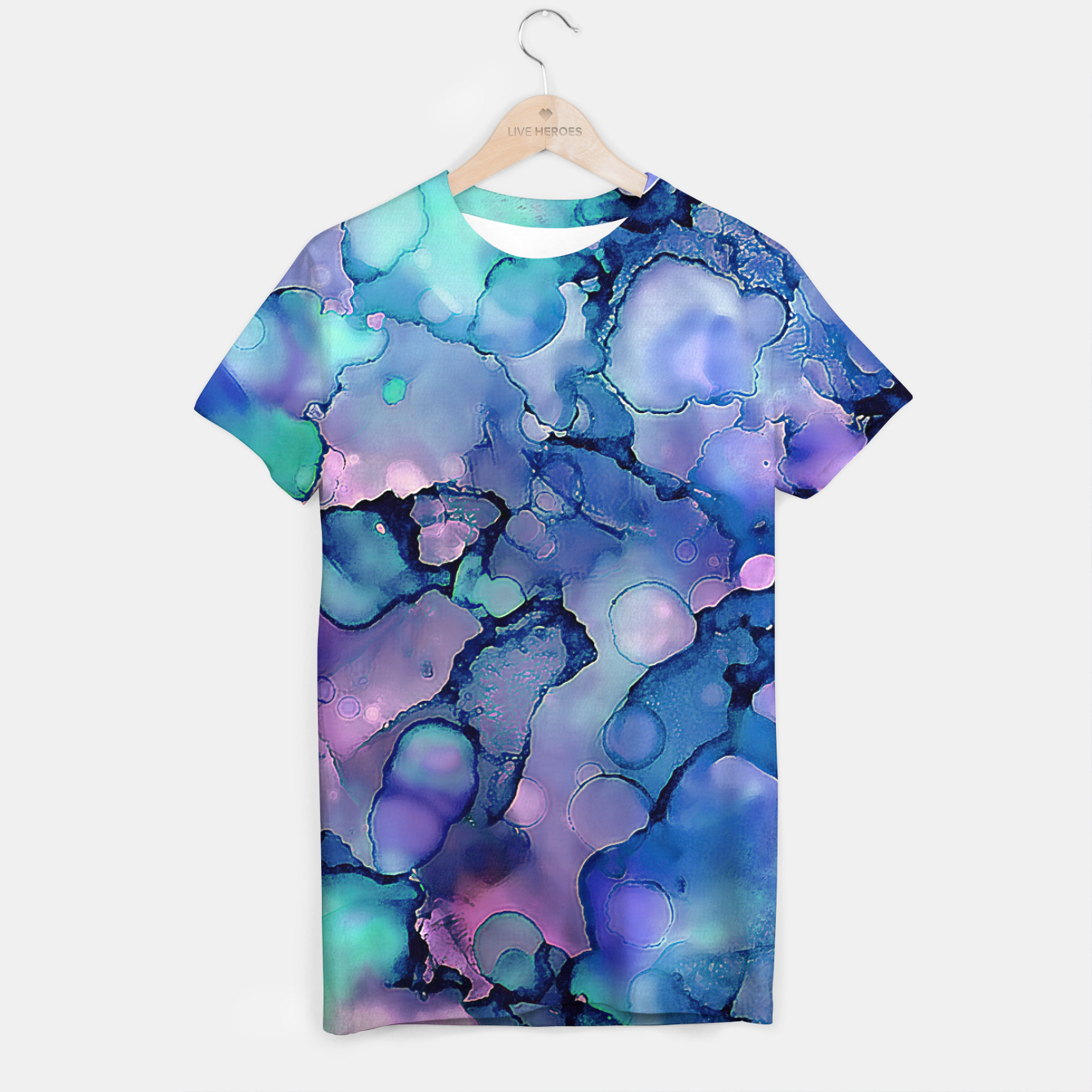 Imagen de Abstract Alcohol Ink Painting 2 T-shirt - Live Heroes