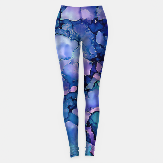 Miniaturka Abstract Alcohol Ink Painting 2 Leggings, Live Heroes