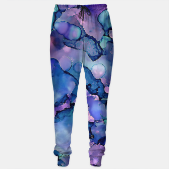Imagen en miniatura de Abstract Alcohol Ink Painting 2 Cotton sweatpants, Live Heroes