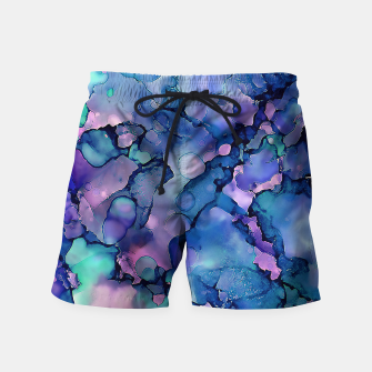 Imagen en miniatura de Abstract Alcohol Ink Painting 2 Swim Shorts, Live Heroes