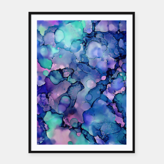 Abstract Alcohol Ink Painting 2 Framed poster imagen en miniatura