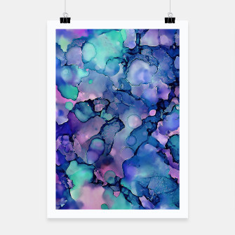 Abstract Alcohol Ink Painting 2 Poster imagen en miniatura