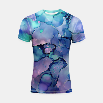 Imagen en miniatura de Abstract Alcohol Ink Painting 2 Shortsleeve rashguard, Live Heroes