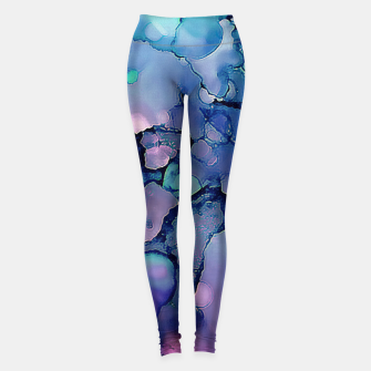 Abstract Alcohol Ink Painting 2 Leggings imagen en miniatura