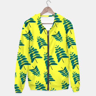 Thumbnail image of Yellow Leaves Cotton zip up hoodie, Live Heroes