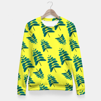 Thumbnail image of Yellow Leaves Woman cotton sweater, Live Heroes