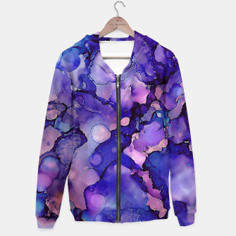 Abstract Alcohol Ink Painting 3 Cotton zip up hoodie imagen en miniatura
