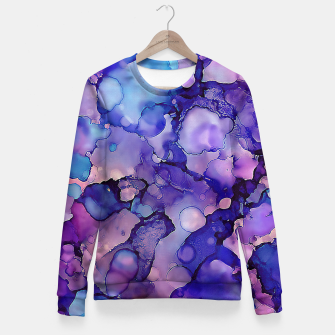 Abstract Alcohol Ink Painting 3 Woman cotton sweater imagen en miniatura