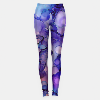 Abstract Alcohol Ink Painting 3 Leggings imagen en miniatura