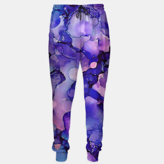 Abstract Alcohol Ink Painting 3 Cotton sweatpants imagen en miniatura