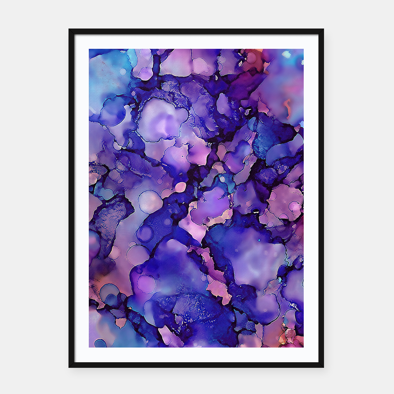 Imagen de Abstract Alcohol Ink Painting 3 Framed poster - Live Heroes