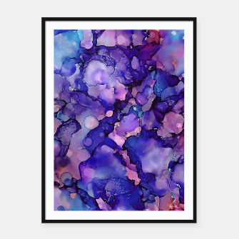 Abstract Alcohol Ink Painting 3 Framed poster imagen en miniatura