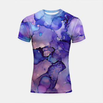Abstract Alcohol Ink Painting 3 Shortsleeve rashguard imagen en miniatura