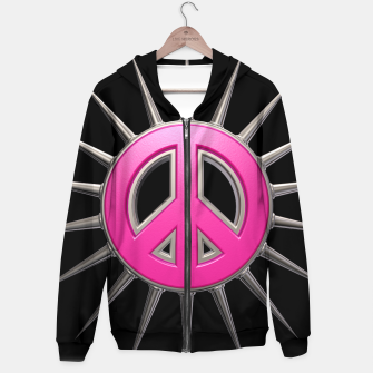 Thumbnail image of peace Cotton zip up hoodie, Live Heroes
