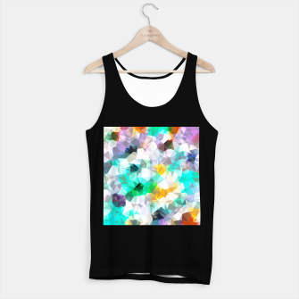 Miniature de image de psychedelic geometric triangle polygon pattern abstract background in green blue yellow Tank Top regular, Live Heroes