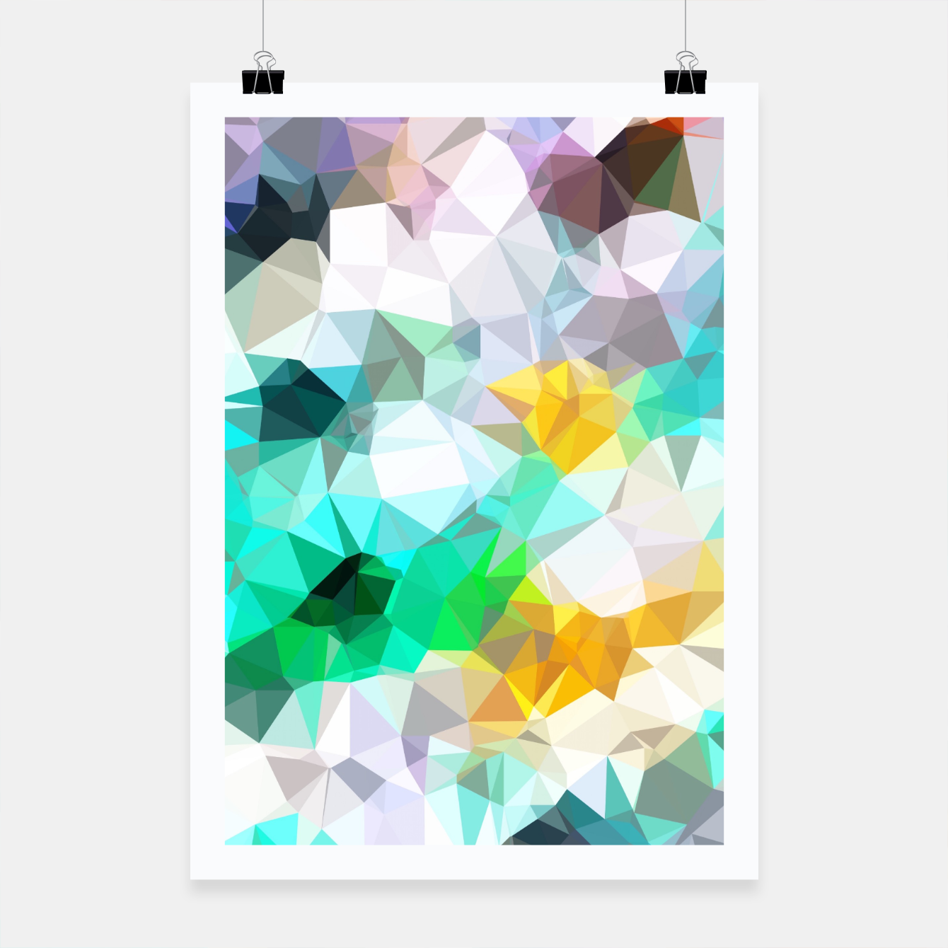 psychedelic geometric triangle polygon pattern abstract