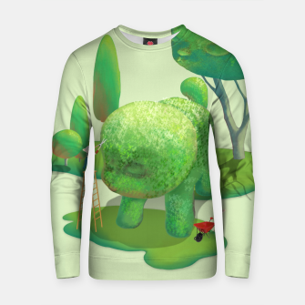 Thumbnail image of Topiary Garden Cotton sweater, Live Heroes