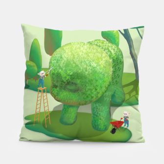 Thumbnail image of Topiary Garden Pillow, Live Heroes