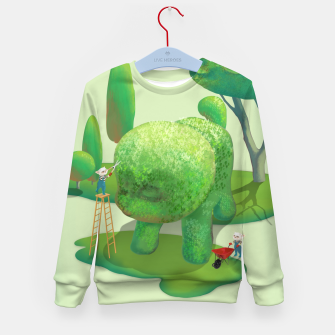 Thumbnail image of Topiary Garden Kid's sweater, Live Heroes