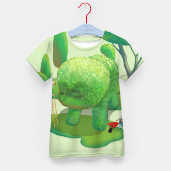 Thumbnail image of Topiary Garden Kid's t-shirt, Live Heroes