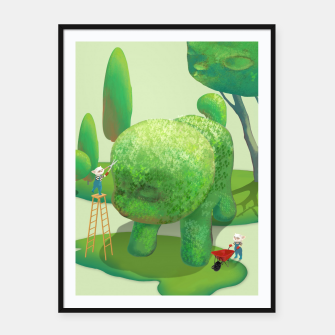 Thumbnail image of Topiary Garden Framed poster, Live Heroes