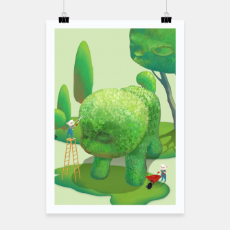 Thumbnail image of Topiary Garden Poster, Live Heroes