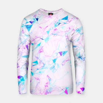 Miniature de image de psychedelic geometric triangle polygon pattern abstract background in pink purple blue Cotton sweater, Live Heroes