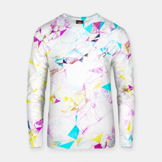 Miniature de image de psychedelic geometric triangle polygon pattern abstract background in pink blue yellow Cotton sweater, Live Heroes