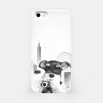 Schnauzer with Camera  iPhone Case thumbnail image