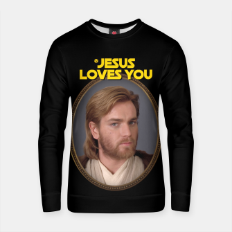 Jesus Loves You and Star Wars Bluza bawełniana miniature