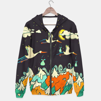 Thumbnail image of The Night Cotton zip up hoodie, Live Heroes