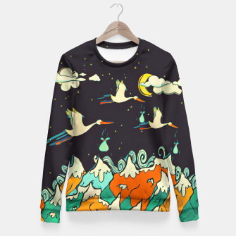 Thumbnail image of The Night Woman cotton sweater, Live Heroes