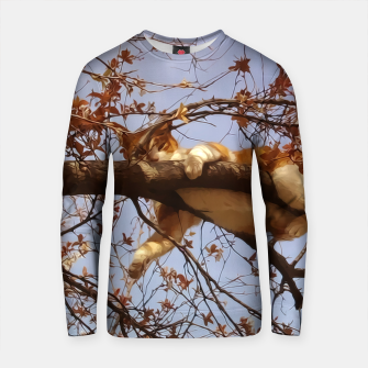 Thumbnail image of Cat on a tree Cotton sweater, Live Heroes