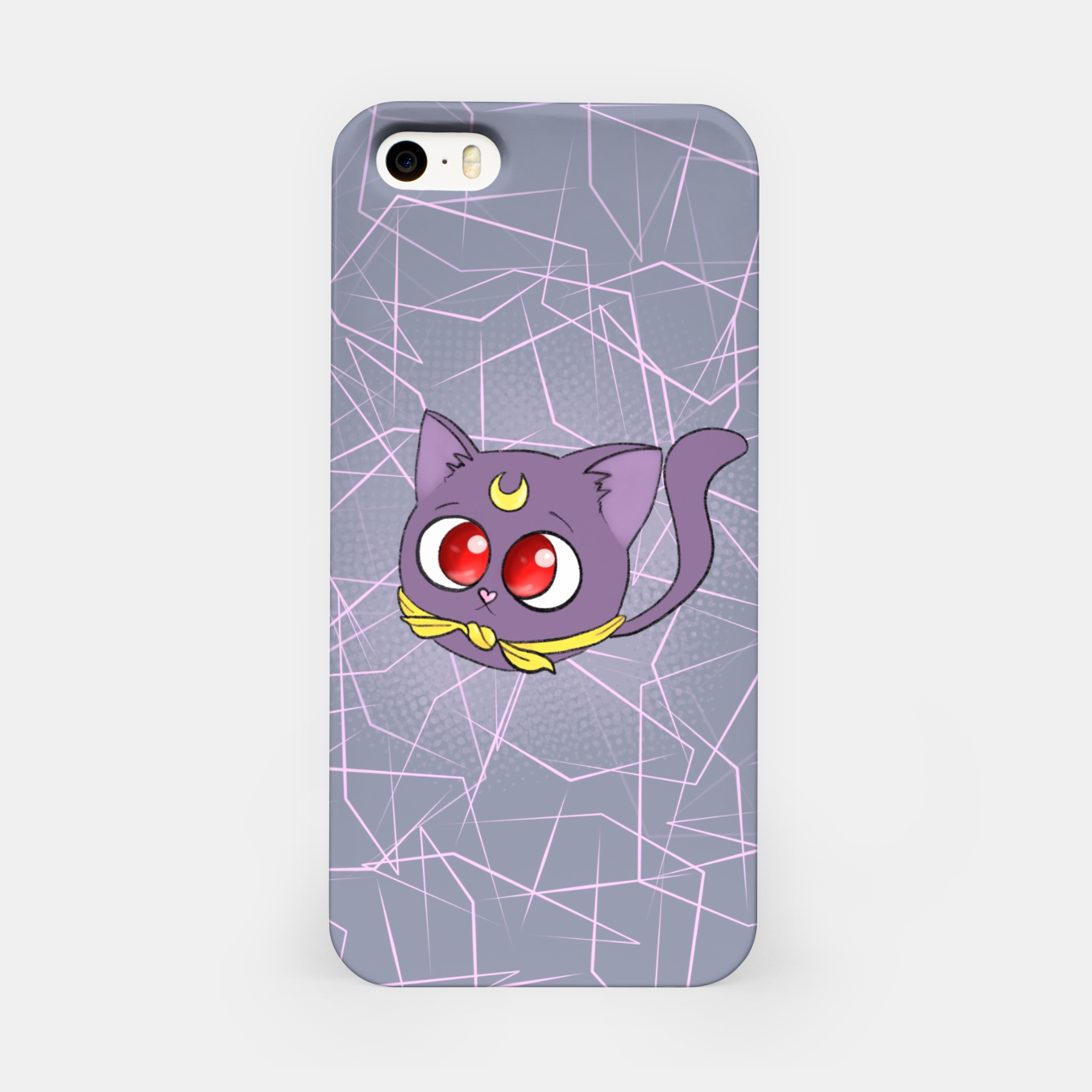 Foto Sailor Moon Fat Cat Luna iPhone Case - Live Heroes
