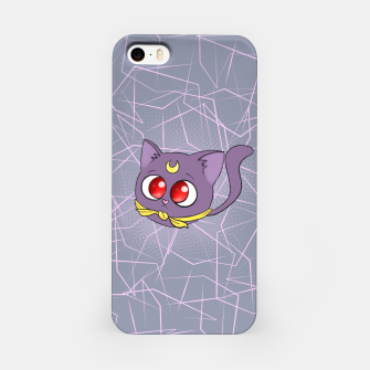 Miniatur Sailor Moon Fat Cat Luna iPhone Case, Live Heroes