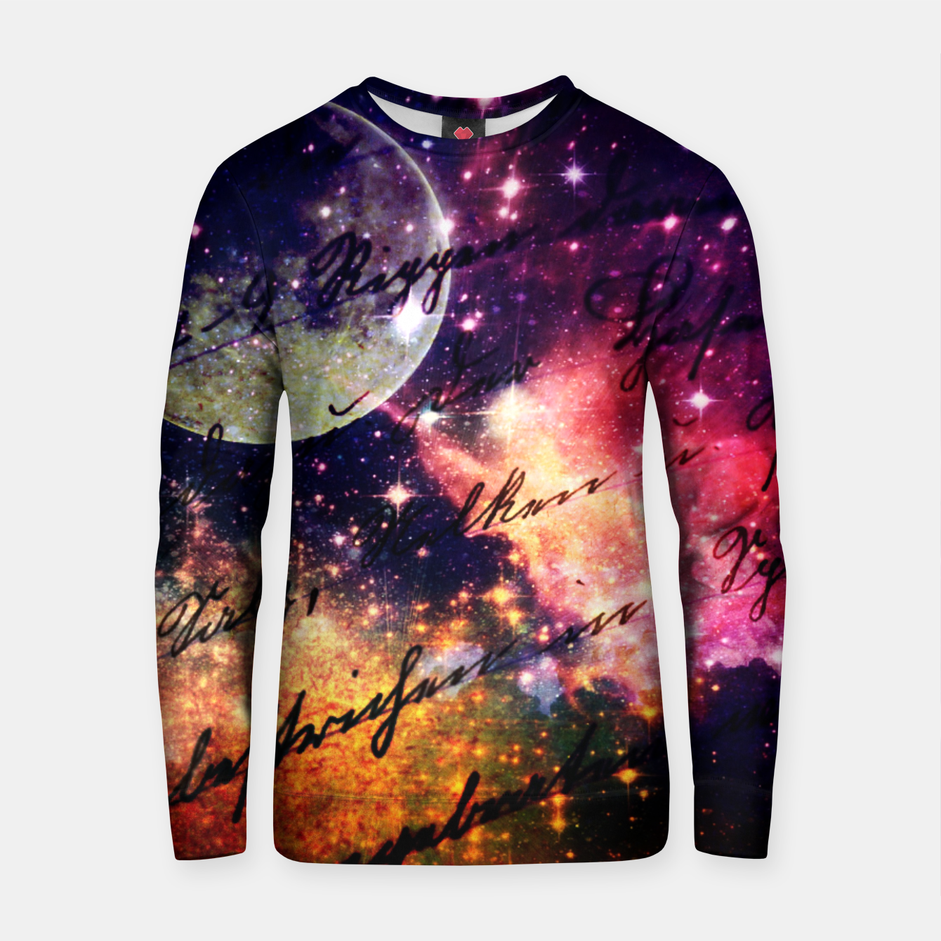 Image of Letter from outer space Cotton sweater - Live Heroes