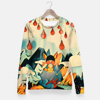 Thumbnail image of Lamp Woman cotton sweater, Live Heroes