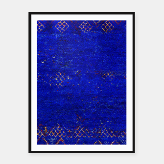 Miniaturka Blue Sea Traditional Moroccan Framed poster, Live Heroes