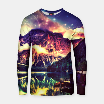 Miniature de image de Night Sky at the lake Cotton sweater, Live Heroes