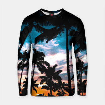Thumbnail image of Palm trees summer dream Cotton sweater, Live Heroes