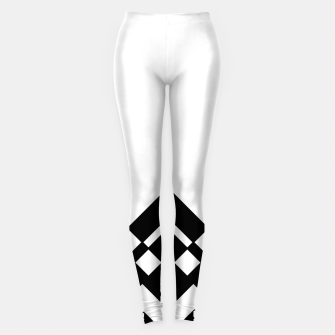 Miniaturka Abstract geometric pattern - black and white. Leggings, Live Heroes